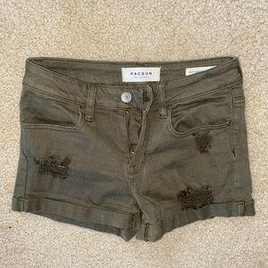 army green denim shorts!